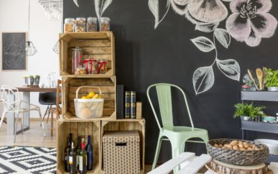 Reclaimed Wood Industrial Carts in Your Kitchen